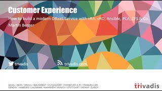 """""""How to build a modern DBaaS Service with vRA, vRO, Ansible, PCA, ZFS & CO"""" by Martin Berger"""