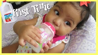Exclusively Breastfeed Baby Tries Whole Milk - VLOG
