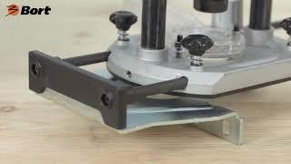 Фрезер электрический, 1500 Вт, 12000-26000 оборотов/мин, ход фрезы 60 мм, цанга 8-12 мм, BORT BOF-1600N