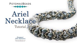 Ariel Necklace - DIY Jewelry  Making Tutorial By PotomacBeads