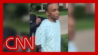 A black hospital patient went on a walk. Then he was arrested.