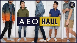 AMERICAN EAGLE Try-On Haul & Review | Men's Spring/Summer Style (5 Casual Outfits)