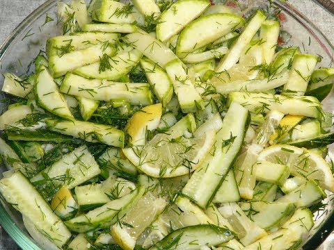 Салат на каждый день из кабачков/ zucchini salad