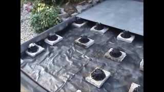 balkonaufbau lose verlegung von natursteinen auf m rtel stelzlager mit drainage. Black Bedroom Furniture Sets. Home Design Ideas