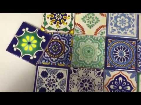 Mexikanische Keramik Fliesen Dekorfliesen gemustert