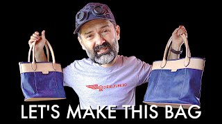 Leather Tote Bag DIY - Tutorial and Pattern Download