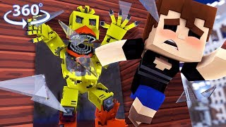 360° Five Nights At Freddy's - NIGHTMARE CHICA VISION - Minecraft 360° VR Video
