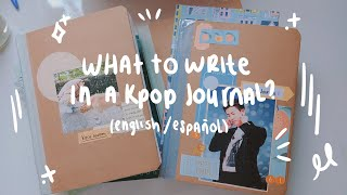 Ideas for writting in your Kpop Journal☺️❤️(English/Español) ✨/Nicole Hdez🌻💫