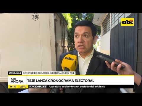TSJE lanza cronograma electoral