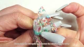 Matte Vintage Floral Nail Art Transfer Foil Tutorial