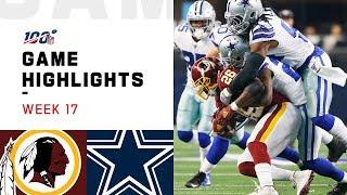 Redskins vs. Cowboys Week 17 Highlights | NFL 2019