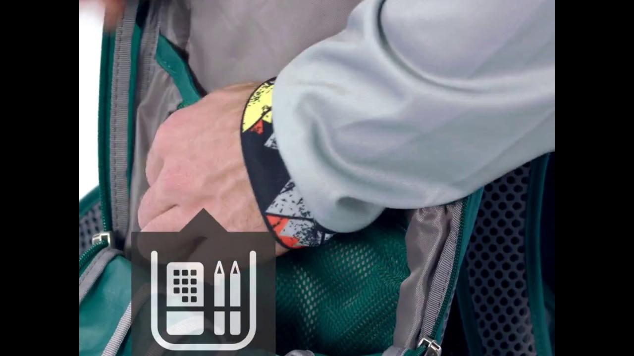 Видео Рюкзак Deuter Race X seagreen-graphite