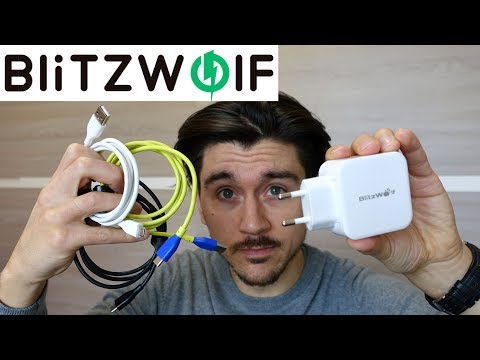 Accessori Blitzwolf | Caricatore doppio (fast) e cavi USB-C colorati