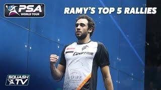 Squash: Ramy Ashour - Top 5 Rallies