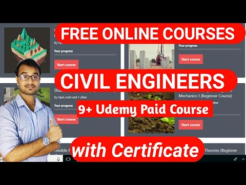 Free online courses with certificate for CIVIL ENGINEERS - YouTube