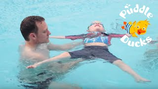 How To Teach Your Child Back Floating (aged 2-5 years)   Puddle Ducks