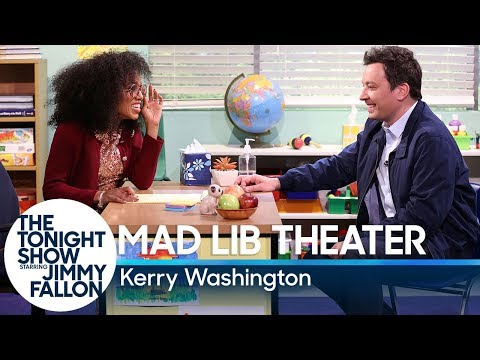 , title : 'Mad Lib Theater with Kerry Washington'