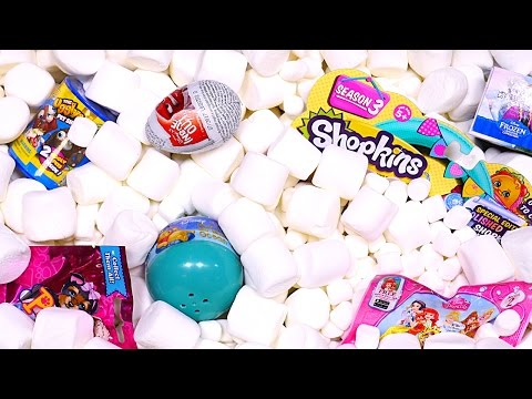 Marshmallow Madness Surprise Eggs Aquarium! Inside Out Ugglys Disney Princess Toy Eggs DCTC