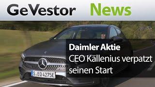 Daimler – CEO Källenius verpatzt seinen Start