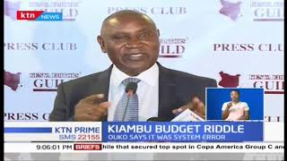 Auditor General Ouko says Kiambu budget riddle was as a result of system error