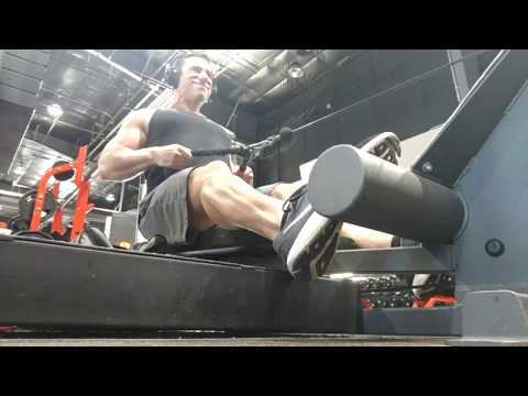 Seated cable row w/rope attachment