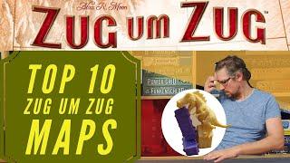 Top 10 - Zug um Zug - Map Collection / Grundspiele / Brettspiele / Erweiterungen