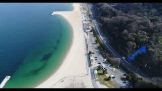 広島県安芸郡坂町ベイサイドビーチ坂ドローン
