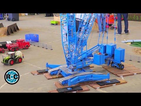 Giant RC Crane &  Wind Turbine installation