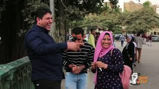 """مذيع الشارع  اظرف بنت وولد مرتبطين فيكي يا مصر """" ميدو واميرة """""""