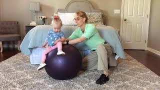 #101 Sitting Balance on a Ball: Exercises for a Baby with Low Tone