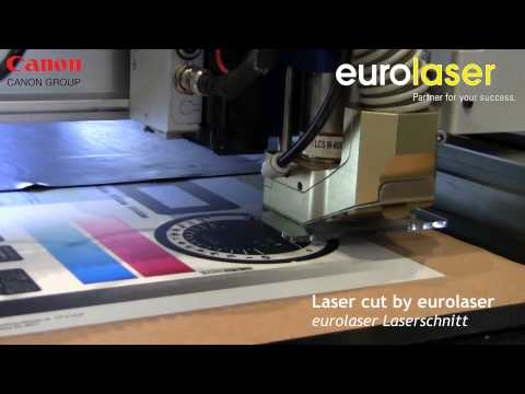 Polyester film printed by Canon Océ Arizona | Laser cutting test