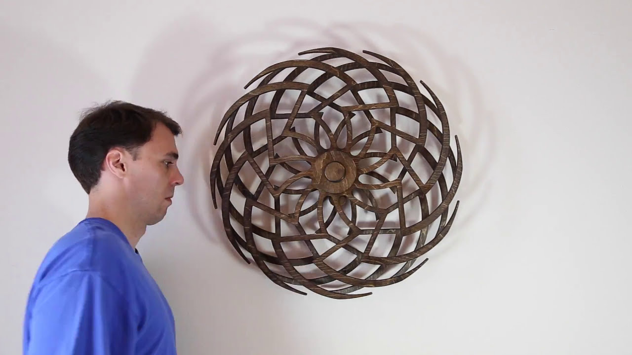 art installation wooden kinetic sculpture by shawn gano