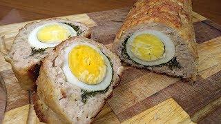 Мясной Рулет с Яйцом / Вкуснейший Праздничный Рецепт!