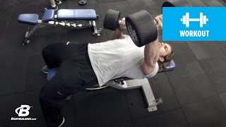 Fast-Paced Chest Workout | 30 Days Out | Day 1 by Bodybuilding.com
