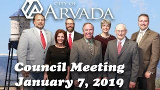 Preview image of Arvada City Council Meeting -  January 7, 2019