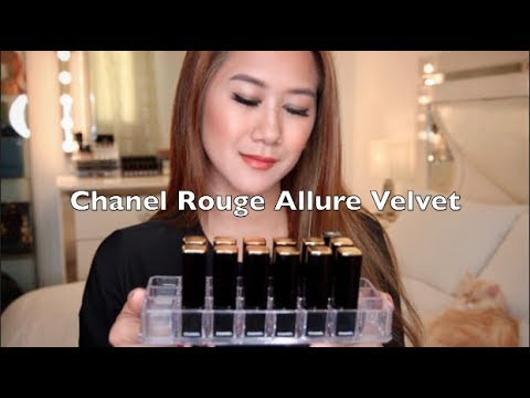 My Chanel Rouge Allure Velvet Lipstick Collection & Lips Swatches | Pinay Youtuber in Kuwait