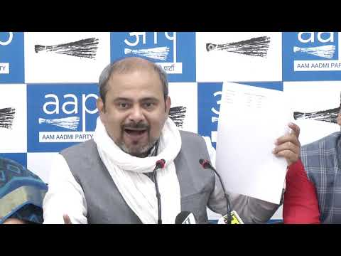 AAP Leader Dilip Pandey Briefs on Scam of Voter Deletion