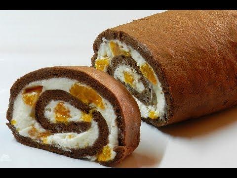Video ROLL CAKE | Chocolate Swiss Roll Cake Recipe