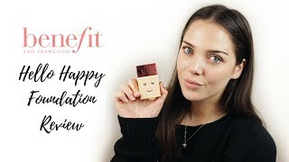Benefit Hello Happy Foundation 💖 First Impression  + Wear Test & All Shades Swatched 🤔🤩