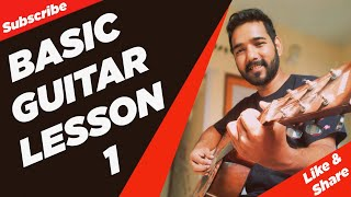 Basic Guitar Lesson 1 (Introduction Of Guitar) For Beginners In (Hindi)  By Acoustic Pahadi