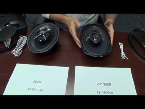 Comparacion entre parlantes Sony XS-FB6930 vs Pioneer TS-A6965R