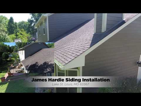We installed new James Hardie Fiber Cement Siding on this Lake St Louis MO home. The project turned out amazing! It looks fabulous. Check out the before and after video!