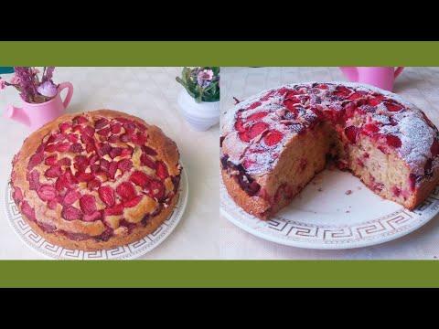 Strawberry pie / Пирог с Клубникой /Быстрый и простой рецепт к чаю /English subtitles