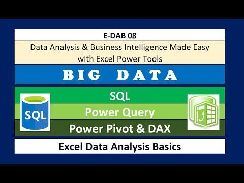 E-DAB 08: Power Pivot: Big Data, Data Modeling, DAX & Dashboards