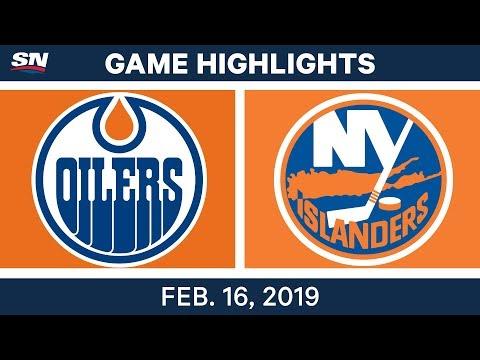 NHL Highlights | Oilers vs. Islanders - Feb 16, 2019