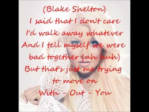 Christina Aguilera - Just a Fool (Ft. Blake Shelton) (Lyrics On Screen)