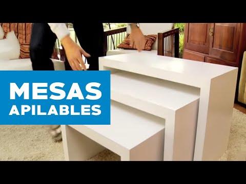 ¿Cómo construir mesas de centro apilables?