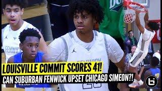 LOUISVILLE commit Bryce Hopkins SCORES 41! Simeon vs Fenwick City-Suburban UPSET?! Full Highlights!