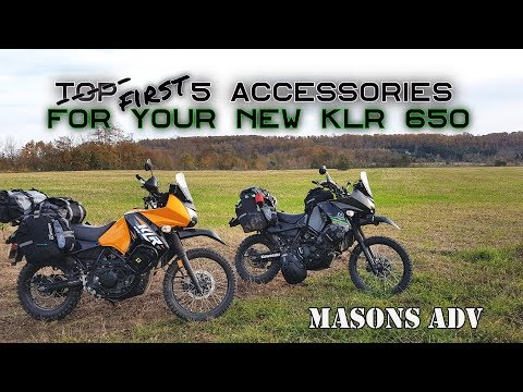 First 5 items to buy for a new Kawasaki KLR 650 | ADVenture bike build PART 1
