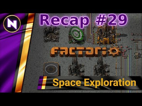 Factorio Space Exploration - Day 29 Recap - LIQUIDS TO ORBIT